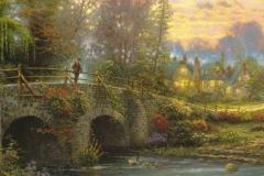 """Фотошпалери """"Людина на мості"""" (#80016)"""