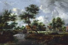 """Фотошпалери """"Голландський пейзаж, Мейндерт Гоббема"""" (#80020)"""
