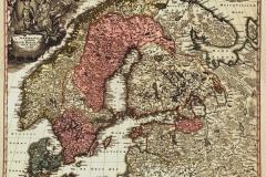 """Фотошпалери """"Стара скандинавська карта"""" (#90014)"""