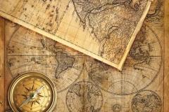 "Фотошпалери ""Карта з компасом"" (#90017)"
