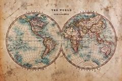 """Фотошпалери """"Вінтажна карта світу"""" (#90020)"""