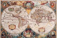 """Фотошпалери """"Карта світу в ретро стилі"""" (#90023)"""