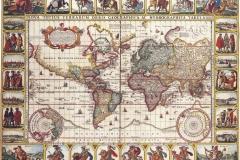 """Фотошпалери """"Карта світу, 16 століття"""" (#90025)"""