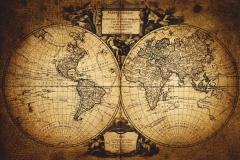"""Фотошпалери """"Старовинна карта світу"""" (#90027)"""