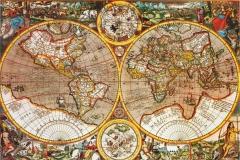 """Фотошпалери """"Карта світу головоломка"""" (#90028)"""