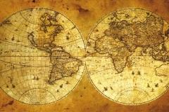 """Фотошпалери """"Старовинна карта світу"""" (#90038)"""
