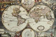 """Фотошпалери """"Вінтажна карта світу"""" (#90039)"""