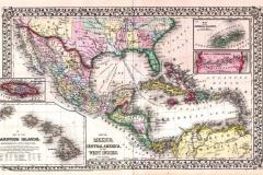 "Фотошпалери ""Карта Карибського моря"" (#90049)"