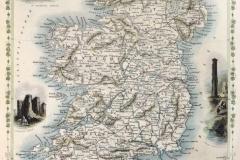 """Фотошпалери """"Стара карта Ірландії"""" (#90050)"""