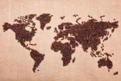 "Фотошпалери ""Карта із кавових зерен"" (#90055)"