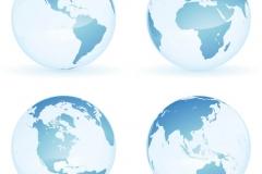 """Фотошпалери """"Глобуси Землі з континентів"""" (#90057)"""